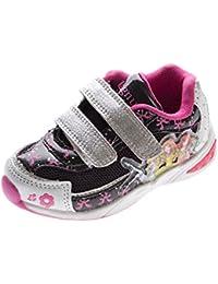 887690c3f99acc Kinder Sneaker Aufdruck Klettverschluss Mädchen Halb Schuhe Sportschuhe Gr.  22-27