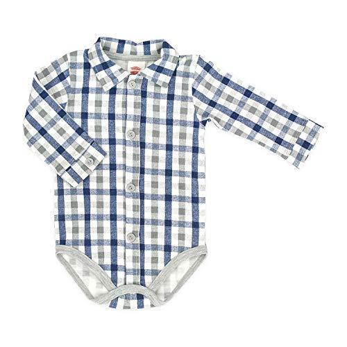 In EU hergestellt Makoma Baby Body-Hemd Langarm Größe 62-92 (68, blau)