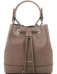 Tuscany Leather Minerva - Sac secchiello pour femme en cuir Saffiano
