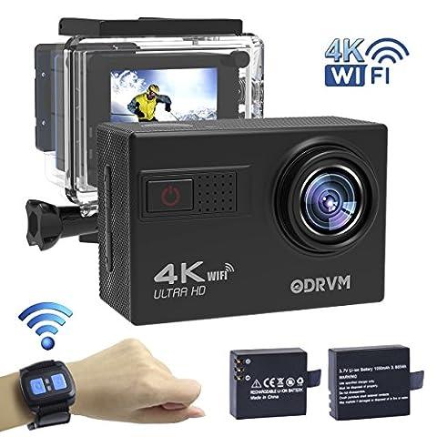 Actioncam 4K WIFI Action cam 1080P/60fps 20MP, 2.4 G Fernbedienung,