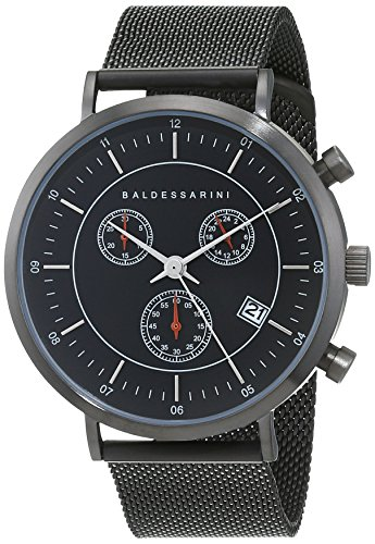 Baldessarini Herren - Armbanduhr Edelstahl Chronograph Quarz Edelstahlband 5 bar