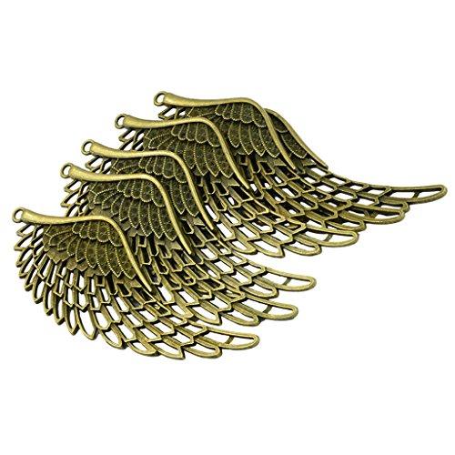 (Baoblaze 6 Stück Antike Bronze Anhänger Charm Engelsflügel Halskette Engelsflügel Anhänger Schmuckherstellung)