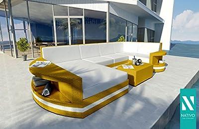 NATIVO© Luxus Gartenmöbel RATTAN LOUNGE SOFA ATLANTIS XL V2 Designer OUTDOOR MÖBEL von NATIVO Deutschland - Gartenmöbel von Du und Dein Garten