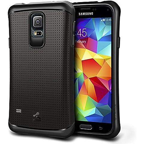 URCOVER® Hard Case Cover Protettiva | Custodia Samsung Galaxy S5 | Thor Antishock Guscio Flessibile in Silicone TPU e Bumper Paraurti in Nero | Anticaduta Resistente Robusta Ergonomica