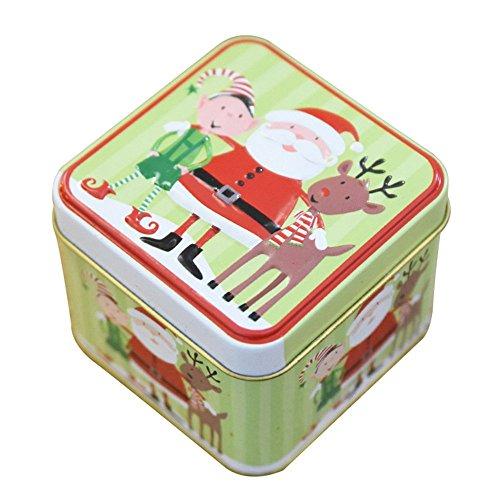 attachmenttou Platz 1 Stück Eisenbox mit Lids Süßigkeit-Kasten Weihnachtsgeschenk Hochzeit