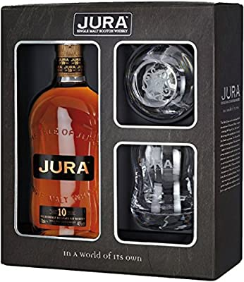 70cl Isle of Jura Glass Pack with 2 Glasses