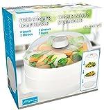Cuisinier Elegance - Vaporera para microondas (2 niveles, 22 x 16 cm)