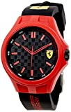 FERRARI MEN'S PIT CREW 44MM SILICONE BAND PLASTIC CASE QUARTZ WATCH 0830287