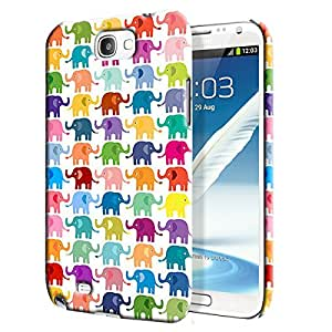 Theskinmantra Color Ele Back Cover for Samsung Galaxy Note 2