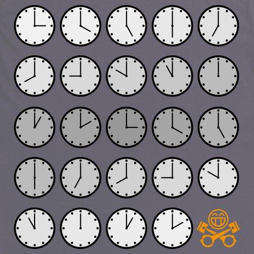 PistonHeads PHLM14 Clocks T-Shirt, Herren Anthrazit