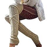 Bluestercool Calzini Invernali da Donna Calze al Ginocchio Moda Leggings