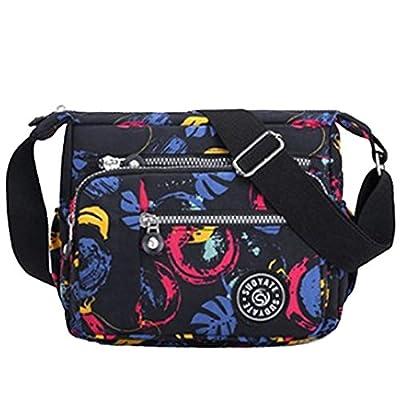 Womens Multi Pocket Casual Cross Body Bag Travel Bag Messenger Handbag for Shopping Hiking Daily Use