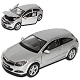Opel Astra H GTC Silber Coupe 2005-2010 1/24 Welly Modell Auto