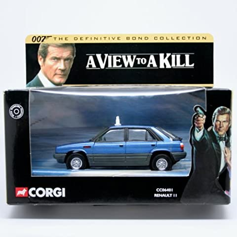 RENAULT II * A VIEW TO A KILL * 2001 Corgi Classics 007 The Definitive James Bond Collection 1:36 Scale Die-Cast Vehicle by James Bond
