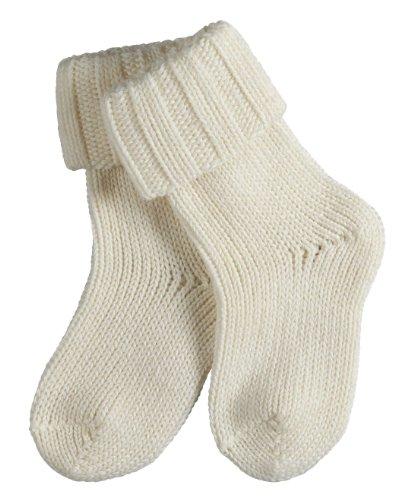 FALKE Unisex - Baby|Baby - Jungen Socken,  Blickdicht, Gr. 80-92 (Herstellergröße: 12-18 monate), Weiß (offwhite 2040)