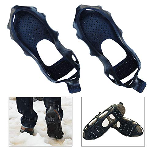 Shaddock Fishing Portable Anti-Slip Ice Snow Grips Gripper Snow Traction Cleats Easy Strolling On Snow and Ice