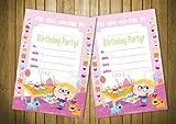 20 biglietti d'invito per feste di compleanno da bambini, Cupcake Party