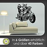 Vikingo Biker pared adhesivo en 6tamaños––Vinilos Wall Sticker, 63_lindgruen, 122 x 120 cm