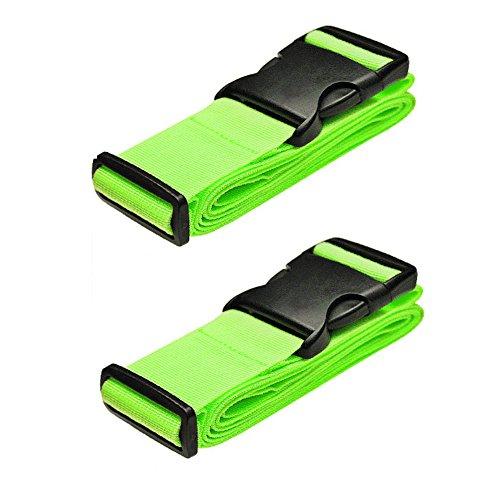 Hibate Correa para equipaje, 2-Pack-Green (Verde) - A017-LV