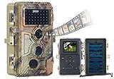 VisorTech Wildtierkamera: Full-HD-Wildkamera, 3 Bewegungssensoren, Nachtsicht, Farbdisplay, IP66 (Wildcam)