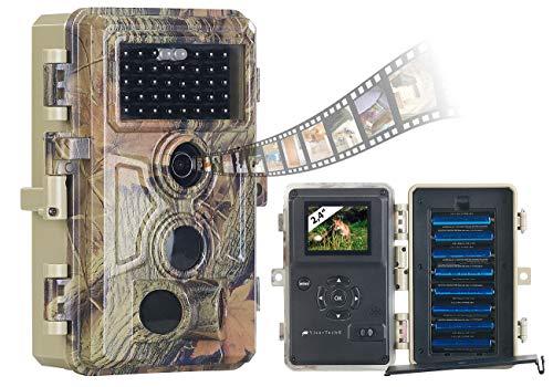 VisorTech Wildtierkamera: Full-HD-Wildkamera, 3 Bewegungssensoren, Nachtsicht, Farbdisplay, IP66 (Fotofalle)