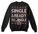 SINGLE JINGLE CHRISTMAS SWEATER Sweatshirt - M - Jet Black - Standard Unisex Sweatshirt