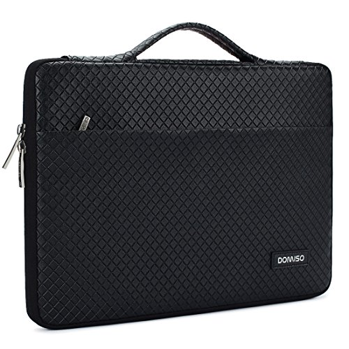 DOMISO 11-11,6 Pollici Custodia Borsa Sleeve con Manico Resistente all'Acqua per Computer Portatile/Tablet / 11.6' MacBook Air/Microsoft Surface PRO 5, 4, 3 / HP/ASUS / dell/Acer, Nero
