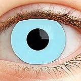 Farbige Kontaktlinsen Motivlinsen Farbig Blau Ohne Stärke Blaue 3 Monate Linsen für Halloween Karneval Fasching Cosplay Kostüm Hellblau Ice Blue ohne Rand