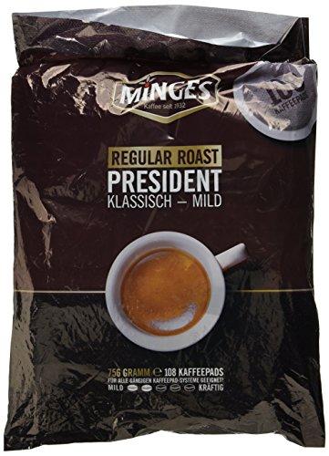 Minges Café Crème Regular Megabeutel, 6 x 18 Kaffeepads (100 + 8 gratis), 756 g, 1er Pack (1 x 756...