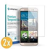 smartect Panzerglas für HTC One M9 [2 Stück] - Bildschirmschutz mit 9H Härte - Blasenfreie Schutzfolie - Anti Fingerprint Panzerglasfolie