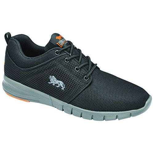 Nuovo da uomo/Da uomo nero/verde leggero Lonsdale scarpe da corsa, Nero/Verde, misure UK 7–12 Navy/Volt
