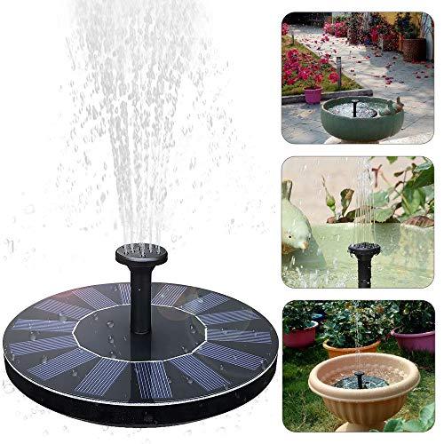 UBEGOOD Solar Springbrunnen, Solar Teichpumpe mit 1.4W Monokristalline Solar Panel Freie stehende Brunnen für Gartenteich,Vogel-Bad, Kleiner Teich.