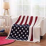 brandream Designer Fleece Decke Decken amerikanische Flagge Überwurf Decke, Polyester, a, 51*63 inch