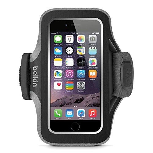 Belkin Slim Fit Plus Sport-Armband (atmungsaktives Neoprenmaterial, verstellbarer Riemen, geeignet für iPhone 6/6s) schwarz/weiß