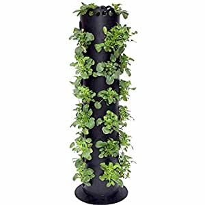 Plastic Mold Standing Flower Tower Pot for Home Decoration