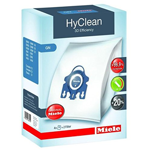 Micro Miele (Miele GN Vacuum Hoover Taschen - Komplette C2 C3 Cat & Dog Powerline Stille Ecoline Echte Originale HyClean + Filter (1 Box))