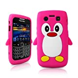Londonmagicstore® Gadgets HotPink PENGUIN Soft Silicone Case for BlackBerry 9700 Bold 9700 / 9780 + Screen Protector - Part of the AIO Accessories Range