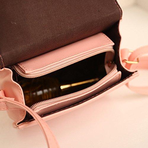 Lady Fashion QPALzM Frizione Della Spalla Del Litchi Spalla Dell'unità Di Elaborazione Frange Borsa Pink