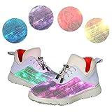 gracosy Damen Flashing Sneakers Damen LED Leuchten USB Lade Laufschuhe Outdoor Casual Atmungsaktive Sportschuhe Fashion Lace-up Fitness Schuhe Attraktive Weihnachtsfeier Geburtstagsgeschenk