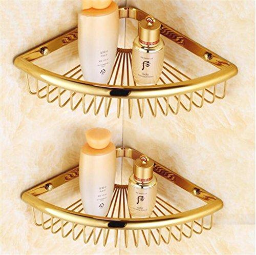 FAFZ Bagno completo di rame Triangolo Basket, in stile europeo bagno d'angolo telaio, Bagno Antico Mensola ( colore : 2# )