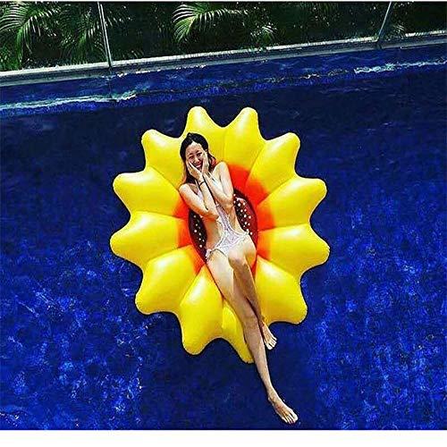 Yikuo Gelbe Sonnenblume PVC-aufblasbarer Hin- Und Herbewegung, Bequem for Umweltschutz-hohe Balance, Sommer-Ufer-Pool-aufblasbare Spielwaren, 180 X 20CM Wunderschönen