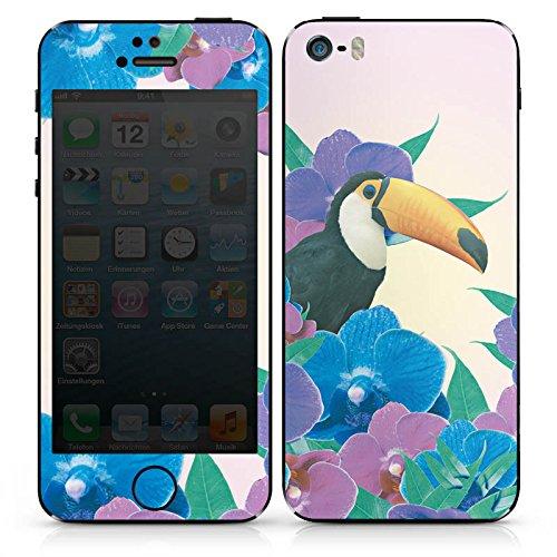 Apple iPhone SE Case Skin Sticker aus Vinyl-Folie Aufkleber Papagei Vogel Tucan DesignSkins® glänzend