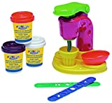 Warenhandel König Spielknete Knete-Set Eiscremebar Eismaschine Eis 3 Knet-Farben Schoko Erdbeer Vanille