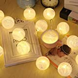 Magideal 20 Cotton Ball LED Fairy String Light Party Christmas Tree Decor 2M