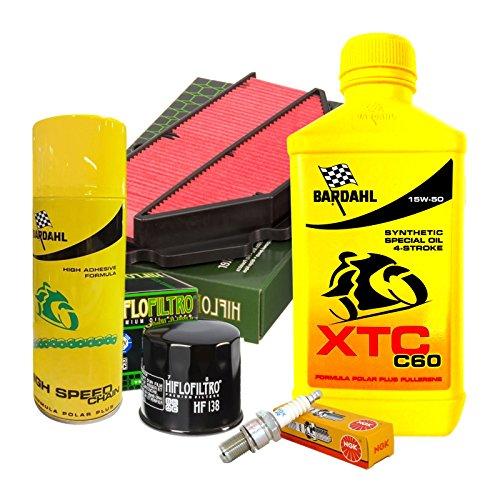 Tagliando Bardahl XTC 15W50 filtro olio aria...