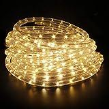Kefflum LED Lichterschlauch, Lichtschlauch Lichterkette Licht Leiste 36LEDs/M Schlauch für Innen und Außen IP65 12M Warmweiß