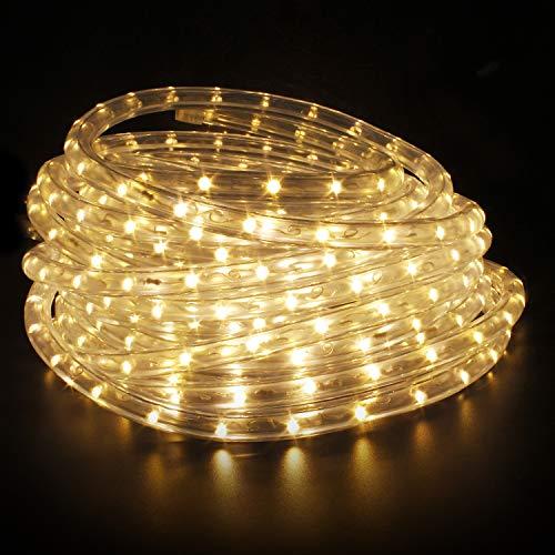 Kefflum LED Lichterschlauch Lichtschlauch Lichterkette Licht Leiste 36LEDs/M Schlauch für Innen und Außen IP65 8M Warmweiß