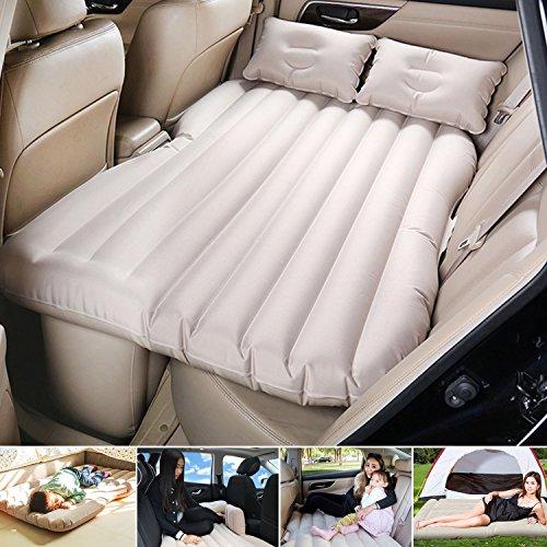 Campeggio Auto Mobile cuscino materasso letto ad aria inflazione da viaggio sedile posteriore divano estesa per SUV e Berline e camion, PVC, Beige, without baffle