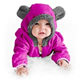 Funzies Fleece leichte Jacke - Winter Pyjama Oberbekleidung für Baby 3-6 monate Purpurbär