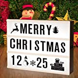 Cinematic Light Box Sign, Adoric LED Light Up Box A4 with 96 Letters 80 Emojis for Christmas/Decoration Room/Party / Wedding/Birthday / Family/Shop